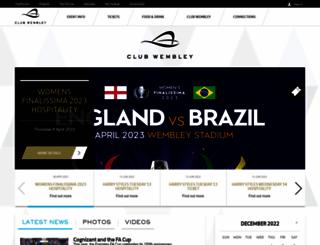 clubwembley.wembleystadium.com screenshot