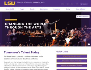 cmda.lsu.edu screenshot