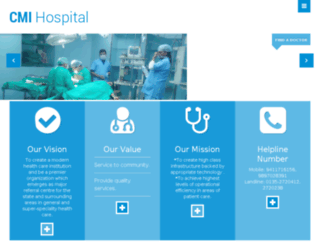cmihospital.in screenshot