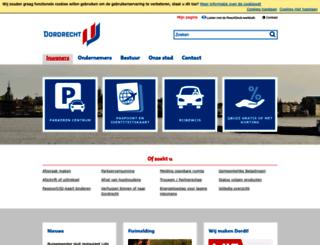 cms.dordrecht.nl screenshot