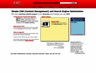 cmsmadeeasy.com screenshot