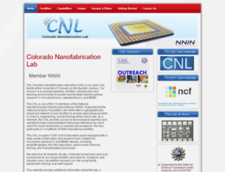 cnl.colorado.edu screenshot