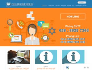 cntt.ueh.edu.vn screenshot