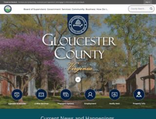 co.gloucester.va.us screenshot