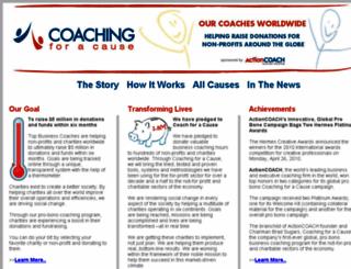 coachingforacause.org screenshot