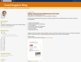 coachingplus.blogspot.com screenshot