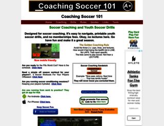 coachingsoccer101.com screenshot
