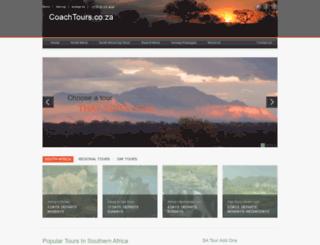 coachtours.co.za screenshot