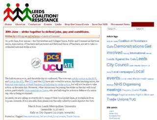 coalitionofresistance-leeds.org.uk screenshot