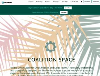 coalitionspace.com screenshot