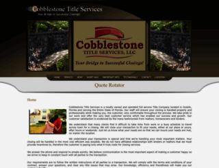 cobblestonetitle.com screenshot