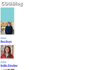 cobblog.cord.edu screenshot