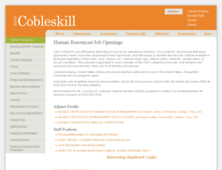 cobleskill.interviewexchange.com screenshot