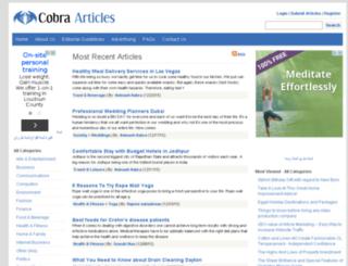 cobraarticles.com screenshot