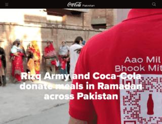 coca-cola.com.pk screenshot