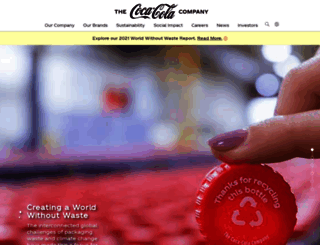 coca-colacompany.com screenshot