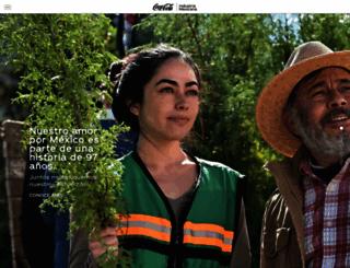 coca-colamexico.com.mx screenshot
