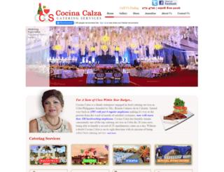 cocinacalza.com screenshot