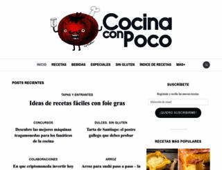 cocinaconpoco.com screenshot