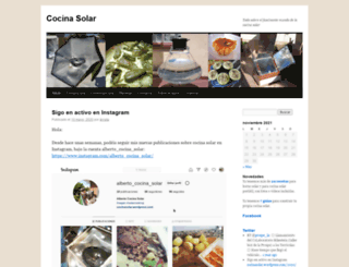 cocinasolar.wordpress.com screenshot