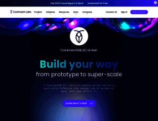 cockroachlabs.com screenshot
