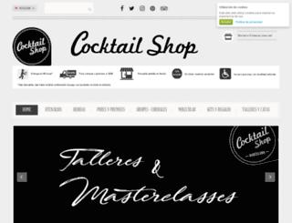 cocktailshop.es screenshot