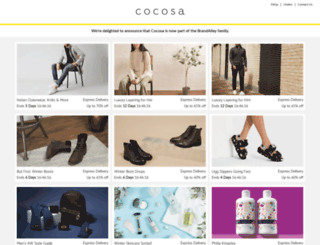 cocosa.co.uk screenshot