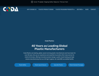 coda-plastics.co.uk screenshot