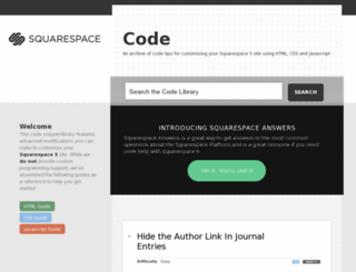 code.squarespace.com screenshot