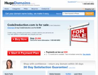 code2reduction.com screenshot