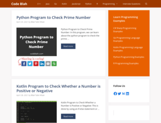 codeblah.com screenshot