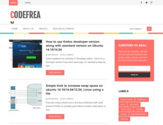 codefreax.net screenshot