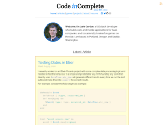 codeincomplete.com screenshot