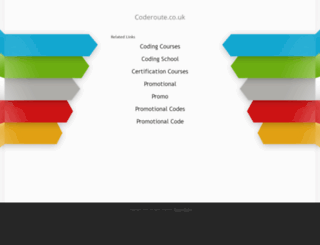 coderoute.co.uk screenshot