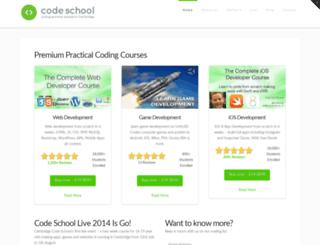 codeschool.org.uk screenshot