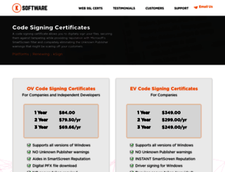 codesigning.ksoftware.net screenshot