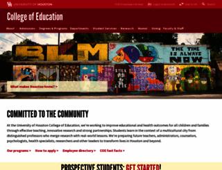 coe.uh.edu screenshot