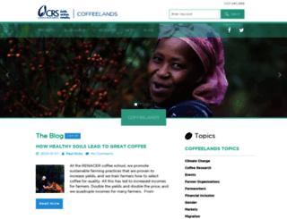 coffeelands.crs.org screenshot