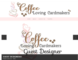 coffeelovingcardmakers.com screenshot