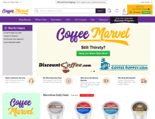 coffeemarvel.com screenshot