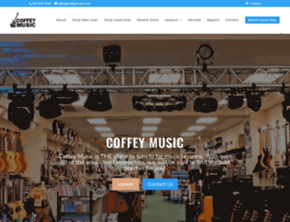 coffeymusic.com screenshot