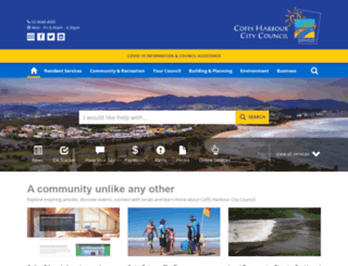 coffsharbour.nsw.gov.au screenshot