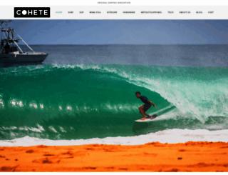 cohetesurfboards.com screenshot