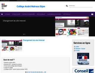 col21-malraux.ac-dijon.fr screenshot