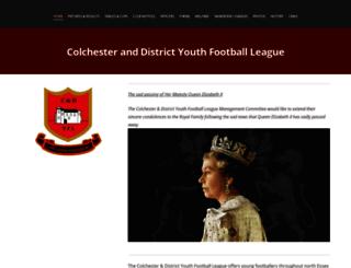 colchesteranddistrictyouthleague.com screenshot