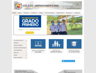 colegiohispano.edu.co screenshot