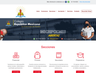 colegiorepublica-mexicana.edu.mx screenshot