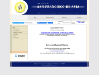 colegiosanfrancisco.com screenshot