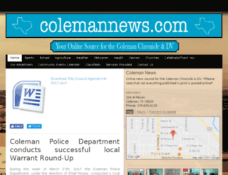 colemannews.com screenshot