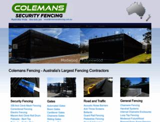 colemansfencing.com.au screenshot
